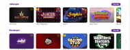 Jalla Casino spelutbud